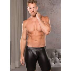 zeus wet look open back bike shorts l/xl