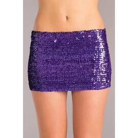 (wd) purple sequin skirt large