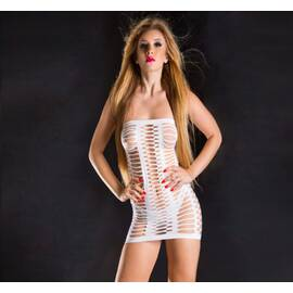 naughty girl tube dress white o/s (net)
