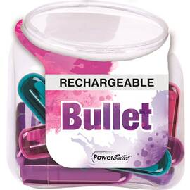 power bullet rechargeable display of 12(out sept)