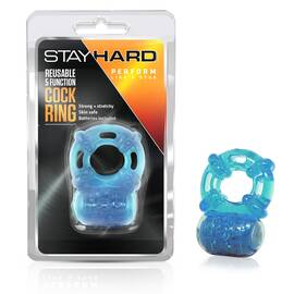 cockring vibrating reuseable blue