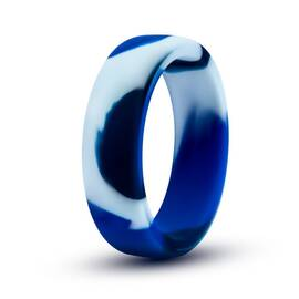 performance silicone camo cock ring blue camoflauge