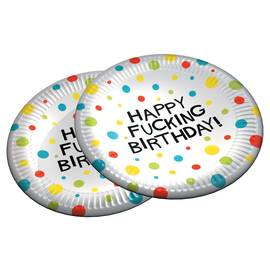 x-rated birthday plates