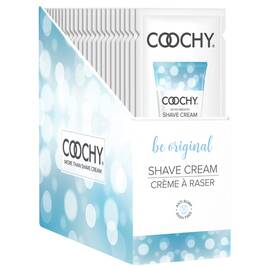 coochy shave cream be original foil 15ml 24pc display