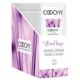 coochy shave cream floral haze foil 15 ml 24pc display