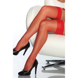 sheer thigh high red o/s