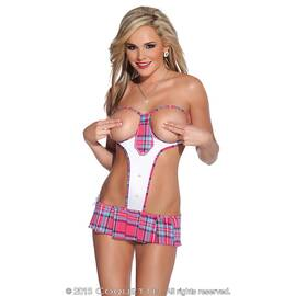 school girl teddy pink/white o/s