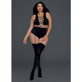 teddy bodystocking black queen