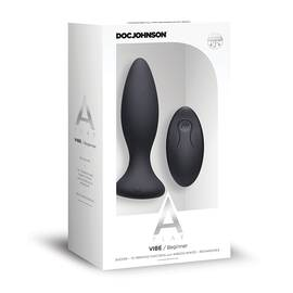a-play vibe beginner anal plug rechargeable w/ remote black