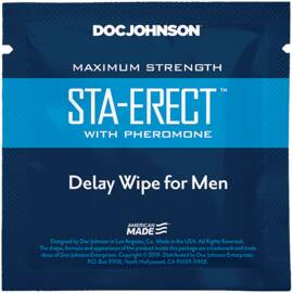 sta-erect delay wipes w/ pheromone