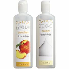 oralove 2 pack lube peaches & cream