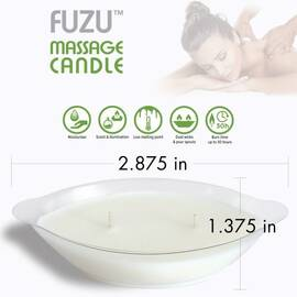 fuzu massage candle coconut passion 4 oz