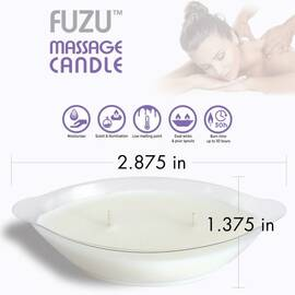 fuzu massage candle lavender mist 4 oz