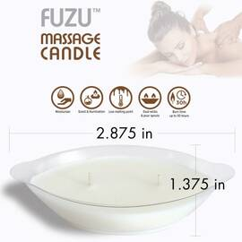 fuzu massage candle warm vanilla sugar 4 oz