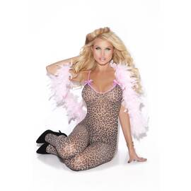 leopard bodystocking o/s