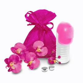fuzu vibrating finger massager neon pink