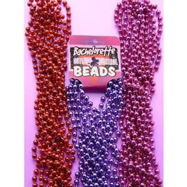 bachelorette bead purple metalic