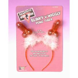 bachelorette blinky & wiggly penis tiara (out march)