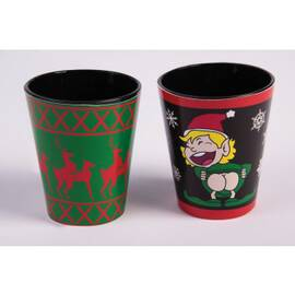 x-mas shot glasses 4 pc