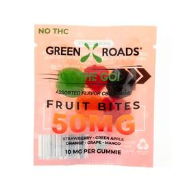 cbd edibles 50mg fruit bites on the go 30 pc dsp (net)