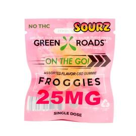 cbd edibles 25mg froggies sourz on the go (net)