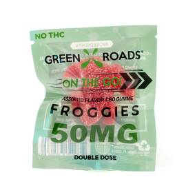 cbd edibles 50mg froggies on the go 30 pc dsp (net)