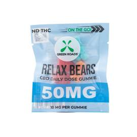cbd edibles 50mg relax bears on the go (net)