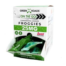 (wd) cbd edibles 25mg froggies the go 30pc dsp (net)