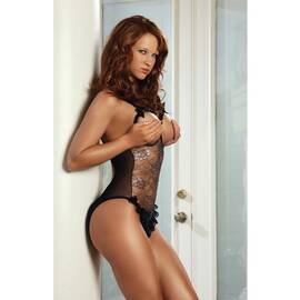 1pc erotic bodystocking black