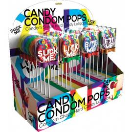candy condom pops display
