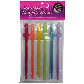 glow in the dark rainbow straws