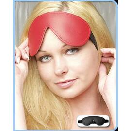 leather blindfold black padded