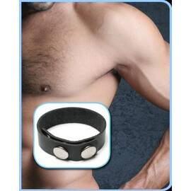 3 snap leather cock ring