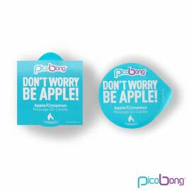 pico bong massage oil candle apple/cinnamon (net)