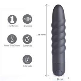 lola rechargeable twisty bullet black