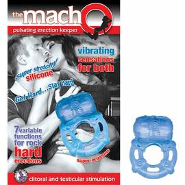 macho pulsating erection keeper blue