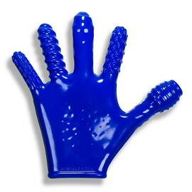 finger fuck textured glove oxballs police blue (net)