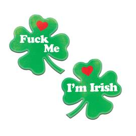 pastease clover 'fuck me im irish' nipple pasties