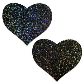pastease glitter heart black