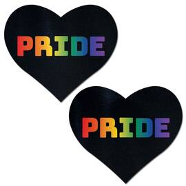 pastease rainbow pride black hearts