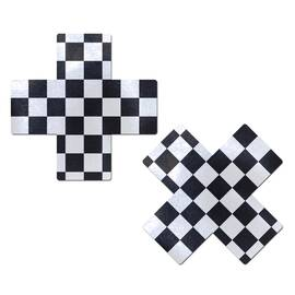 pastease x black & white checker cross