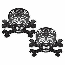 pastease skull black glitter candy