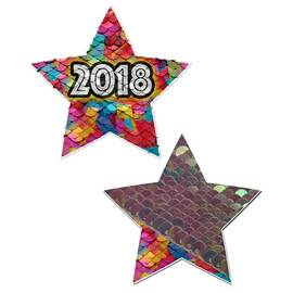 (d) pastease happy new years 2 color changing sequin star