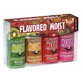 flavored moist lube sampler 4 pack 1oz