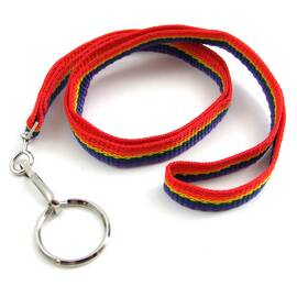nylon lanyard w/key ring