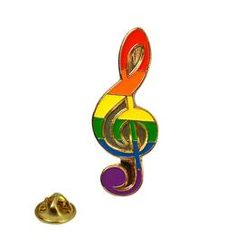 lapel pin rainbow note