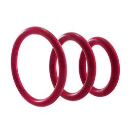 ring nitrile 3pc set red