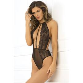 hot pursuit lace bodysuit black s/m (net)(out mid dec)