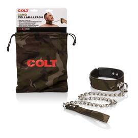 (wd) colt camo collar & leash