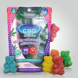 experience cbd 90mg sour gummy bears 6pc (net)